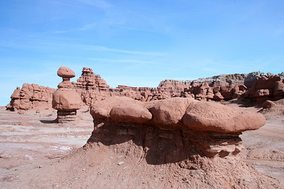Hoodos of Entrada Sandstone in Goblin Valley State Park near Hanksvillle and Green River, Utah.