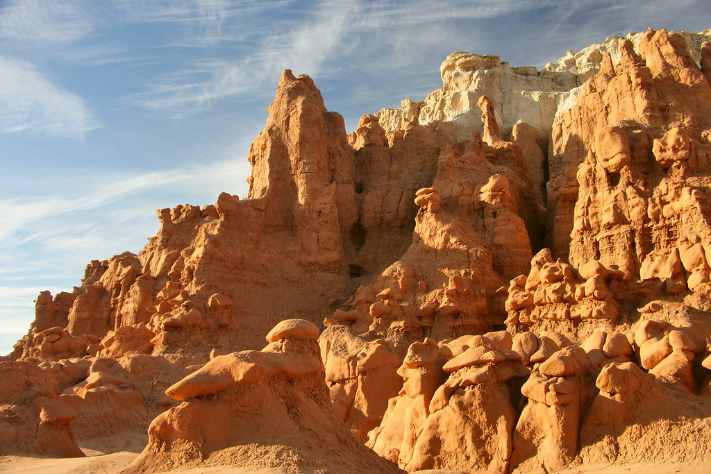 Towering hoodos at Goblin Valley State Park near Hanksvillle and Green River, Utah.