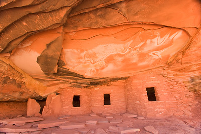 Anasazi ruin in Road Canyon on Cedar Mesa near Bluff Utah, Falling Roof ruin