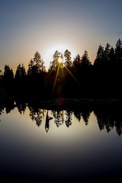 Yoga at Mystery Lake