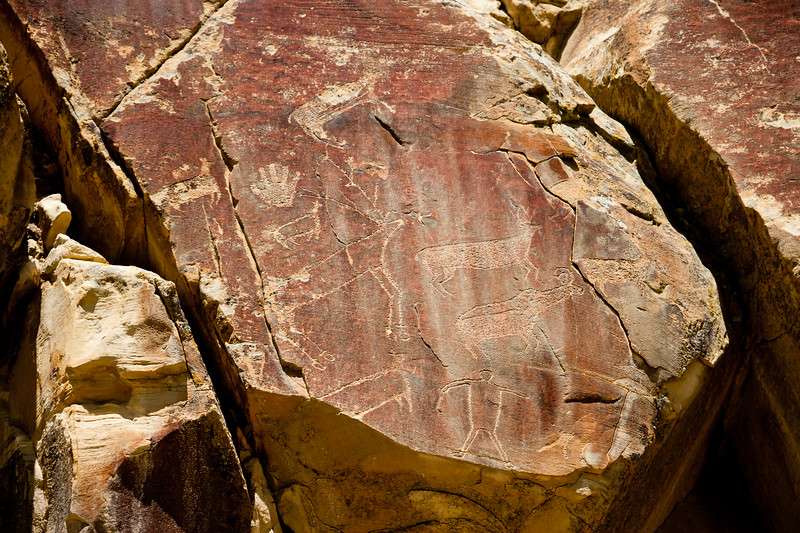 Legend Rock Petroglyph site near Thermopolis Wyoming.