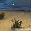Mesquite Dunes Moonset
