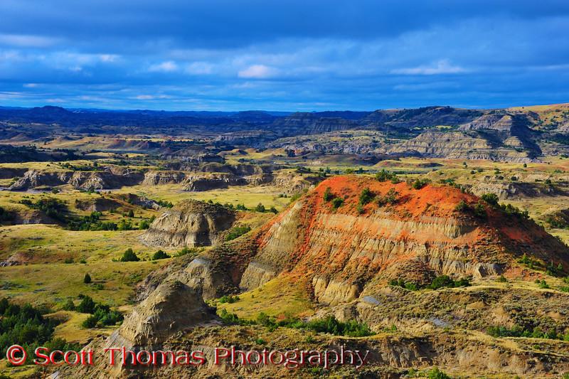 Painted Canyon in Theodore Roosevelt National Park near Medora, North Dakota.