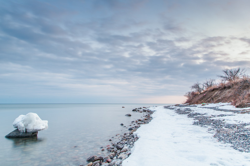 Late Winter Ice At The Lakeshore