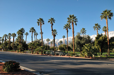 snow-capped mountain in Palm springs,CA.