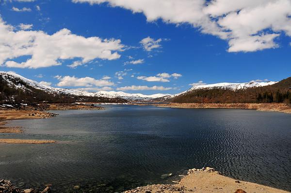 Hamlagrøvatnet er mykje nedtappa på denne tida...16.05.2009