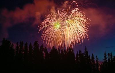 Banff fireworks, Alberta