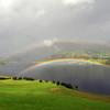 Dobbel regnboge ved Dagestad, Voss 16.08.2009.