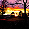 Sunset over Country Club on November 15, 2010