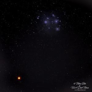 Pleiades and Mars 3