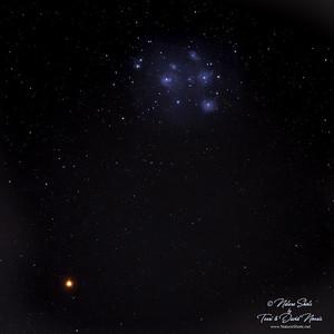 Pleiades and Mars 2