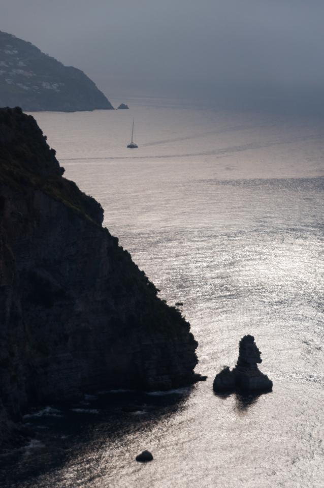 Amalfi Coast, Italy - Sunlight on the water
