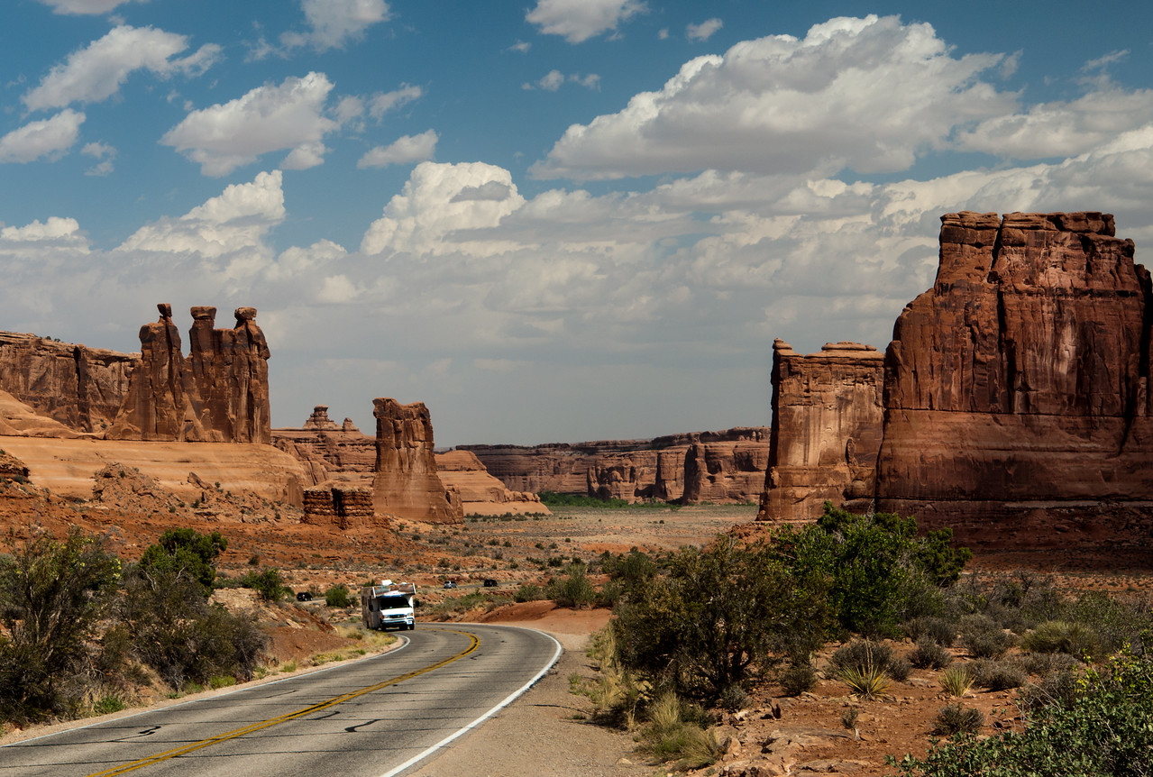 Courthouse Tower Viewpoint  In Arches NP