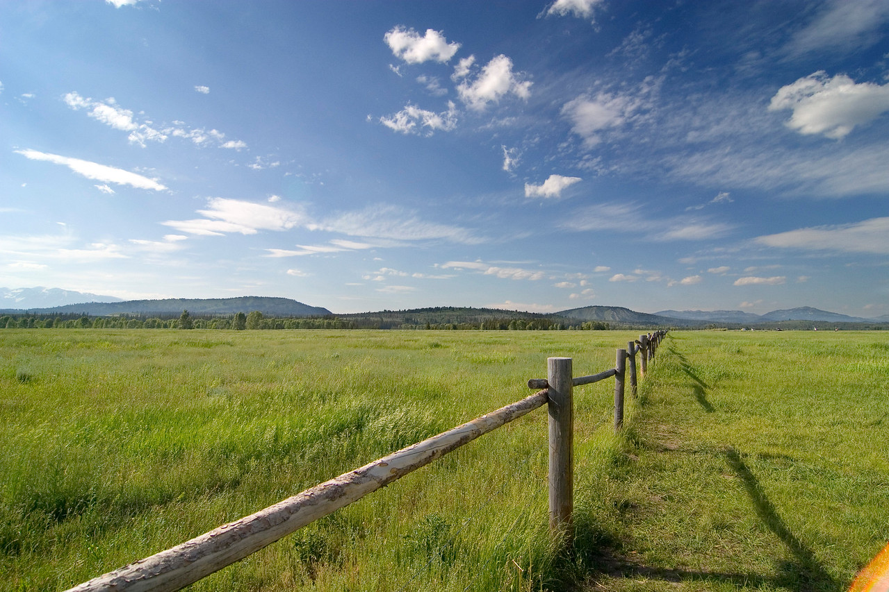 Fence in Grand Teton National Park, Wyoming