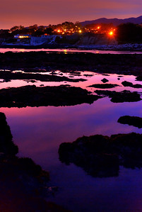 © Joseph Dougherty. All rights reserved.   Post-sunset glow reflected in the tidepools of the California coast.