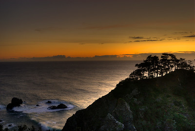 © Joseph Dougherty. All rights reserved.   Sunset north of Point Arena; Mendocino County, California.