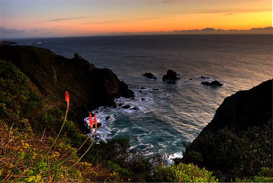 © Joseph Dougherty. All rights reserved.   Coastal sunset north of Point Arena; Mendocino County, California.