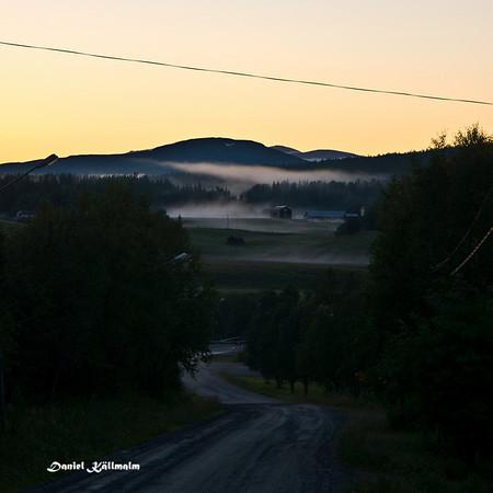 Fog in Ljungdalen, the end of Flatruetvägen