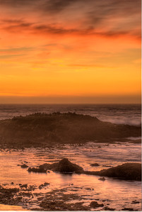 Post-sunset glow along the San Mateo coast, central California.