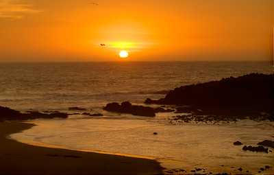 © Joseph Dougherty. All rights reserved.   Sunset along the San Mateo coast, central California.