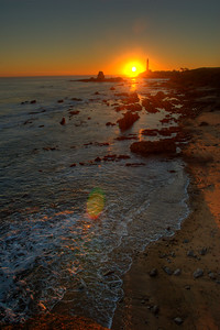 © Joseph Dougherty. All rights reserved.  Pigeon Point Lighthouse at sunset.