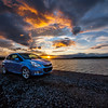 The Opel at sunset, different version