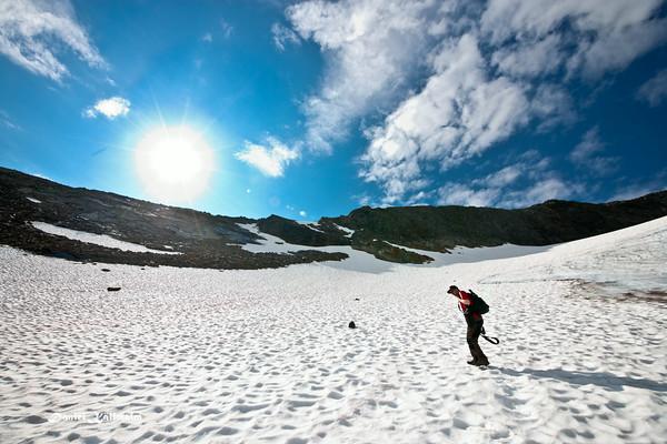 Caj on the glacier
