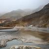 Krýsuvík hot springs at really bad weather