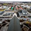 View over the back of Hallgrímskirkja