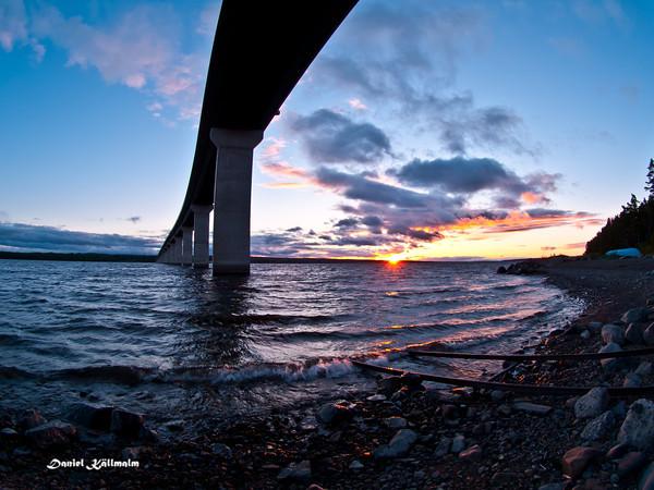 Sunset from beneath Sannsundsbron