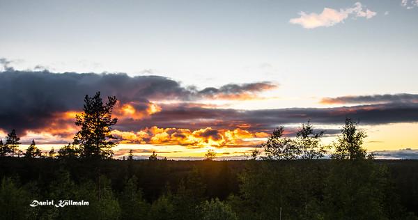 Clouds around sunset