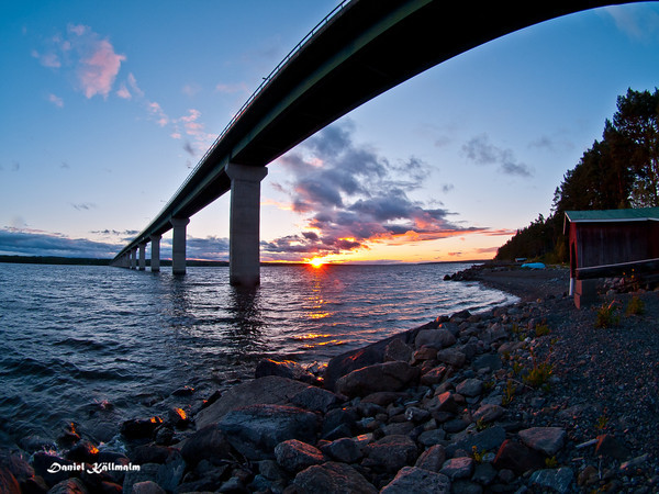 Sunset from beneath Sannsundsbron