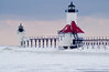 Lake Michigan Lighthouse in St Joseph, Michigan, USA