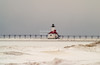 St. Joseph North Pier Lighthouse in Winter