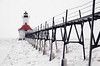 St. Joseph North Pierhead Lighthouse, St. Joseph and Benton Harbor, Michigan, USA