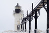 Blizzard over St. Joseph North Pierhead Outer Lighthouse