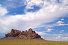 Rock formation under beautiful sky in New Mexico