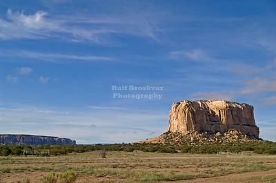 Enchanted Mesa, a sandstone butte in Cibola County, New Mexico, USA