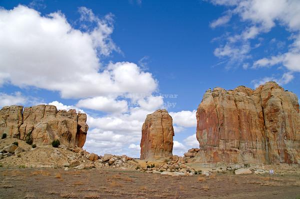 Sacred Rock Formation near Acoma Pueblo, Sky City, New Mexico, USA