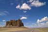 Cloudscape over New Mexico desert Highway 666