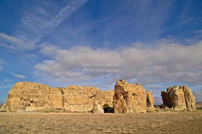 Rock formation near Sky City, the Acoma Pueblo, New Mexico