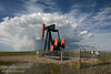An oil pump jack not far from Longview, Alberta, Canada