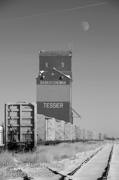 The old garin elevator at Tessier, Alberta - one of the few still standing