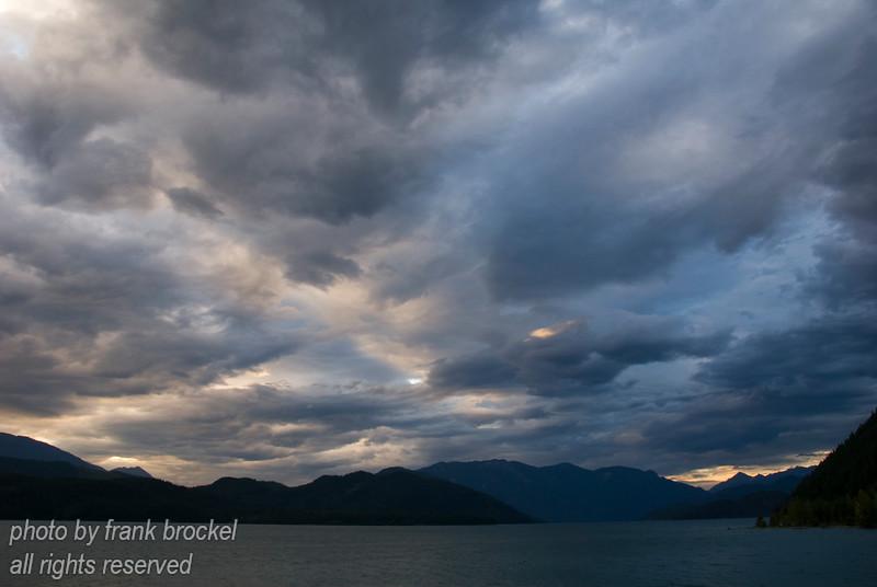 Evening at Duncan Lake, B.C.