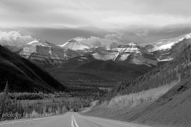 The stunning view west of Elbow Falls, Alberta into the Rockies