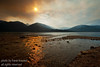 Forest fires burning at Kootenay Lake, B.c., Canada in the summer of 2007