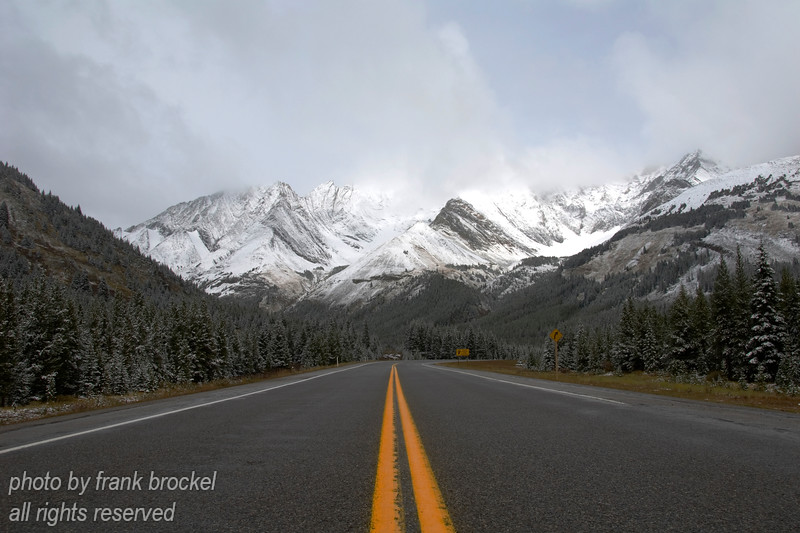 Highway to the Highwood Pass, Alberta, Canada