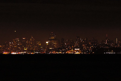 San Francisco - City Lights against a Dark Sky