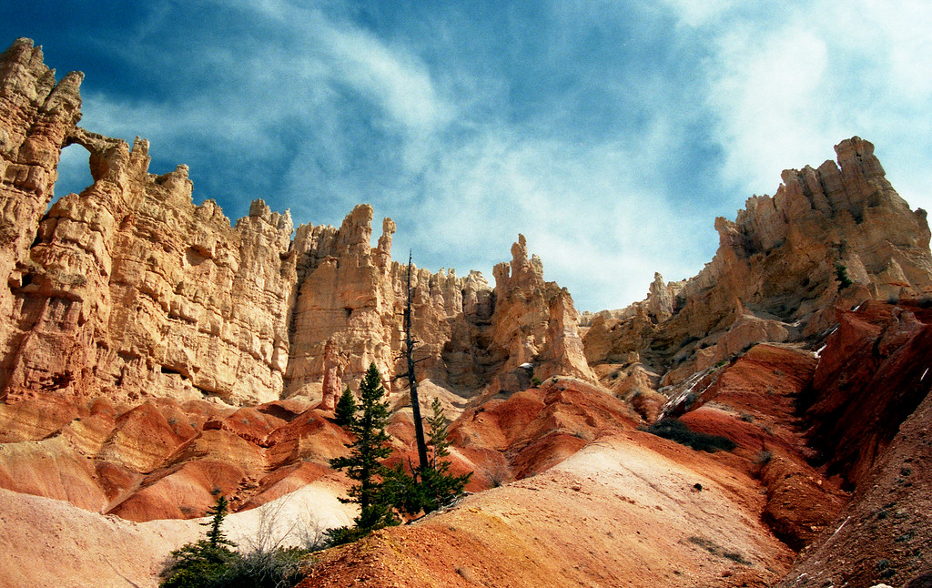 Hoodoos as seen from in the bottom of Bryce Canyon. Bryce Canyon NP, UT<br /> <br /> © Kirk Sagers