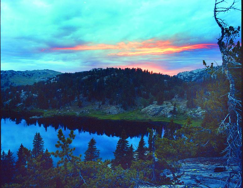 Sunset at Dean Lake high in the Wind River Range.  Bridger Teton Wilderness, WY<br /> <br /> © Kirk Sagers